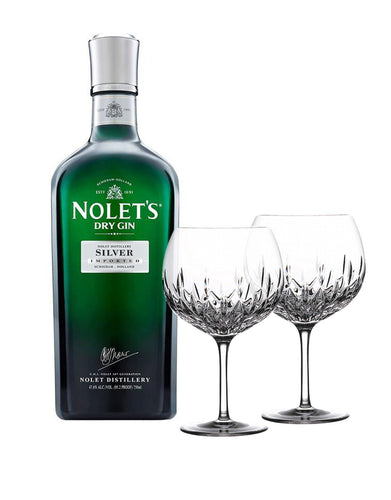 NOLET'S Silver Dry Gin with Waterford Gin Journeys Lismore Balloon Pair