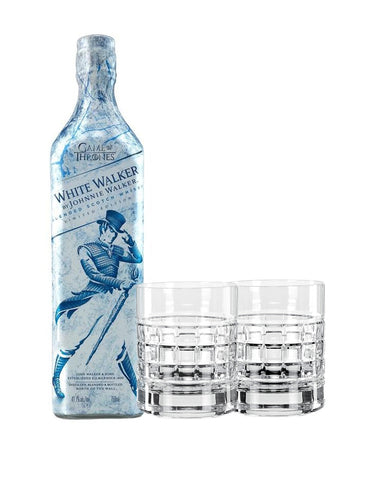 White Walker by Johnnie Walker with Waterford London Double Old Fashioned Glasses