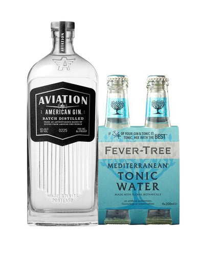 Aviation Gin Mediterranean Gin & Tonic Kit (4 Pack)