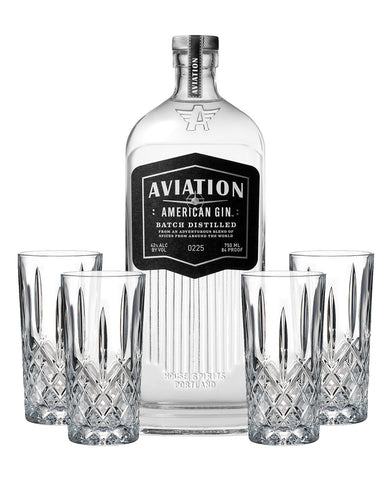Aviation American Gin with Waterford Markham HiBall Set