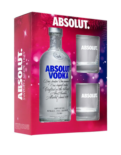 Absolut Gift Set with 2 Absolut Glasses