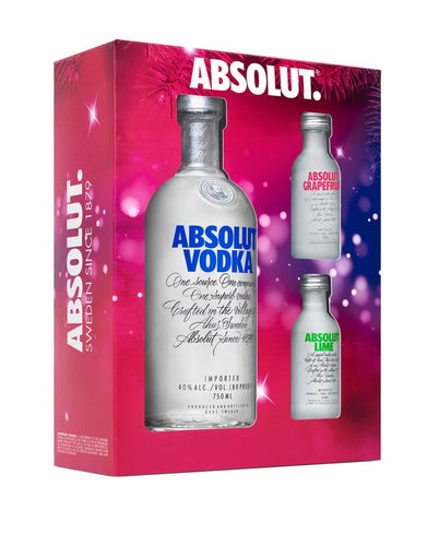 Absolut Gift Set with 2 Mini Bottles
