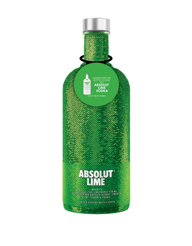 Absolut Lime Holiday Sequin Bottle
