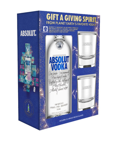 Absolut Vodka with Two Recycled Glasses
