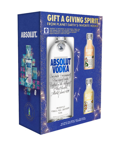 Absolut Vodka with Two Samples of Absolut Juice