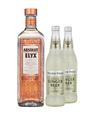 Absolut Elyx with Two Fever-Tree Ginger Beers