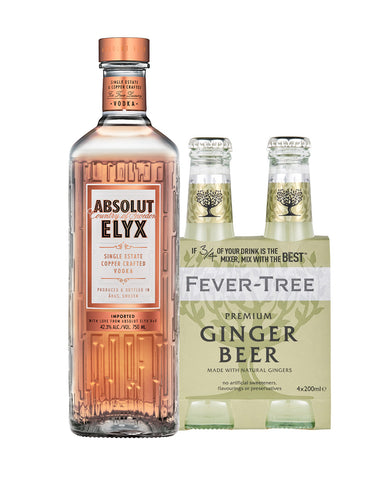 The Perfect Mule Cocktail Pack - Absolut Elyx with Fever-Tree Ginger Beer