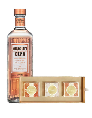 Absolut Elyx 750ml with Sugarfina Cheers 3pc Candy Bento Box