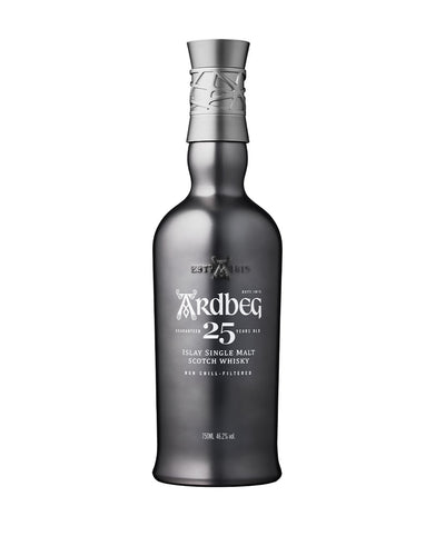 Ardbeg 25-Year-Old Single Malt Scotch Whisky bottle