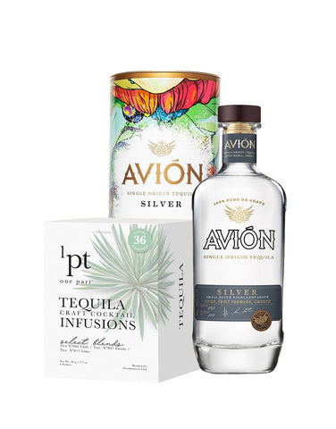 Avión Silver with Collector's Edition Canister and 1pt Cocktail Pack - Tequila