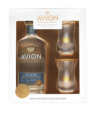 Avión Silver with Tasting Glass Set