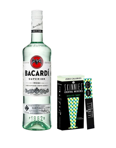 Bacardí Superior White Rum with Skinnies Mojito Twist