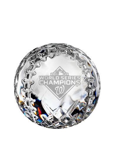 2019 MLB World Series Washington Nationals Baseball Paperweight