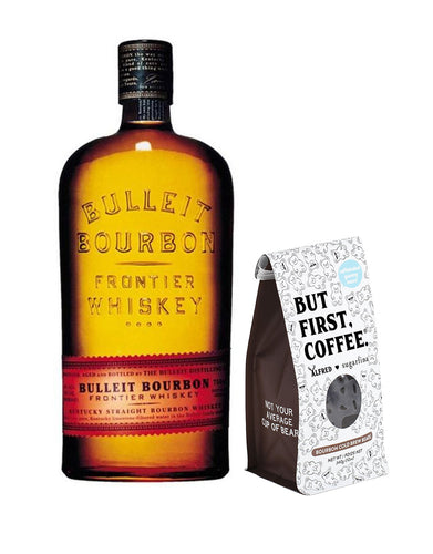 Bulleit Bourbon with Sugarfina Bourbon Cold Brew Bears