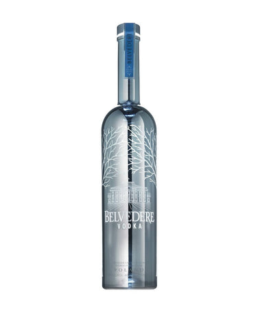 "Load image into Gallery viewer, Belvedere Silver Saber ""Happy Birthday"" Engraved Bottle"