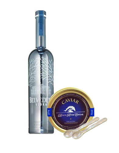 Belvedere Silver Saber with Black River Oscietra Royale Caviar