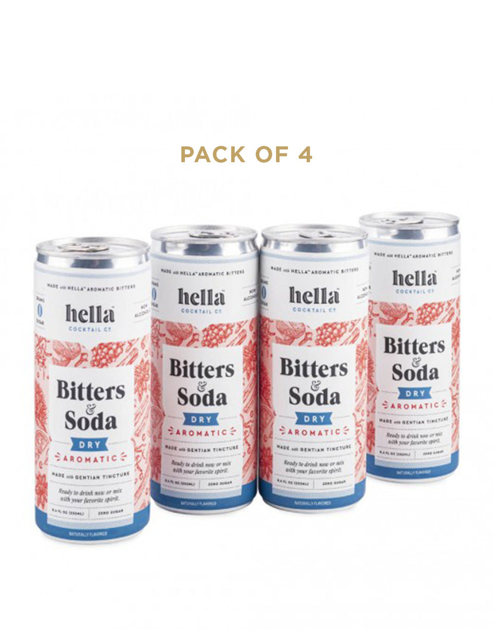 Load image into Gallery viewer, Hella Cocktail Bitters & Soda Dry Aromatic cans (4 pack)