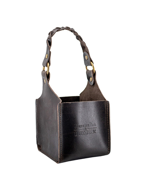 Billykirk Handmade Leather Bottle Holder with Braided Strap