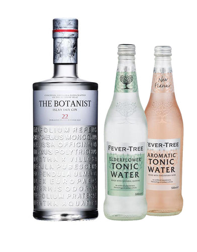 The Botanist® with Fever-Tree Elderflower Tonic Water (500Ml) and Aromatic Tonic Water (500Ml)