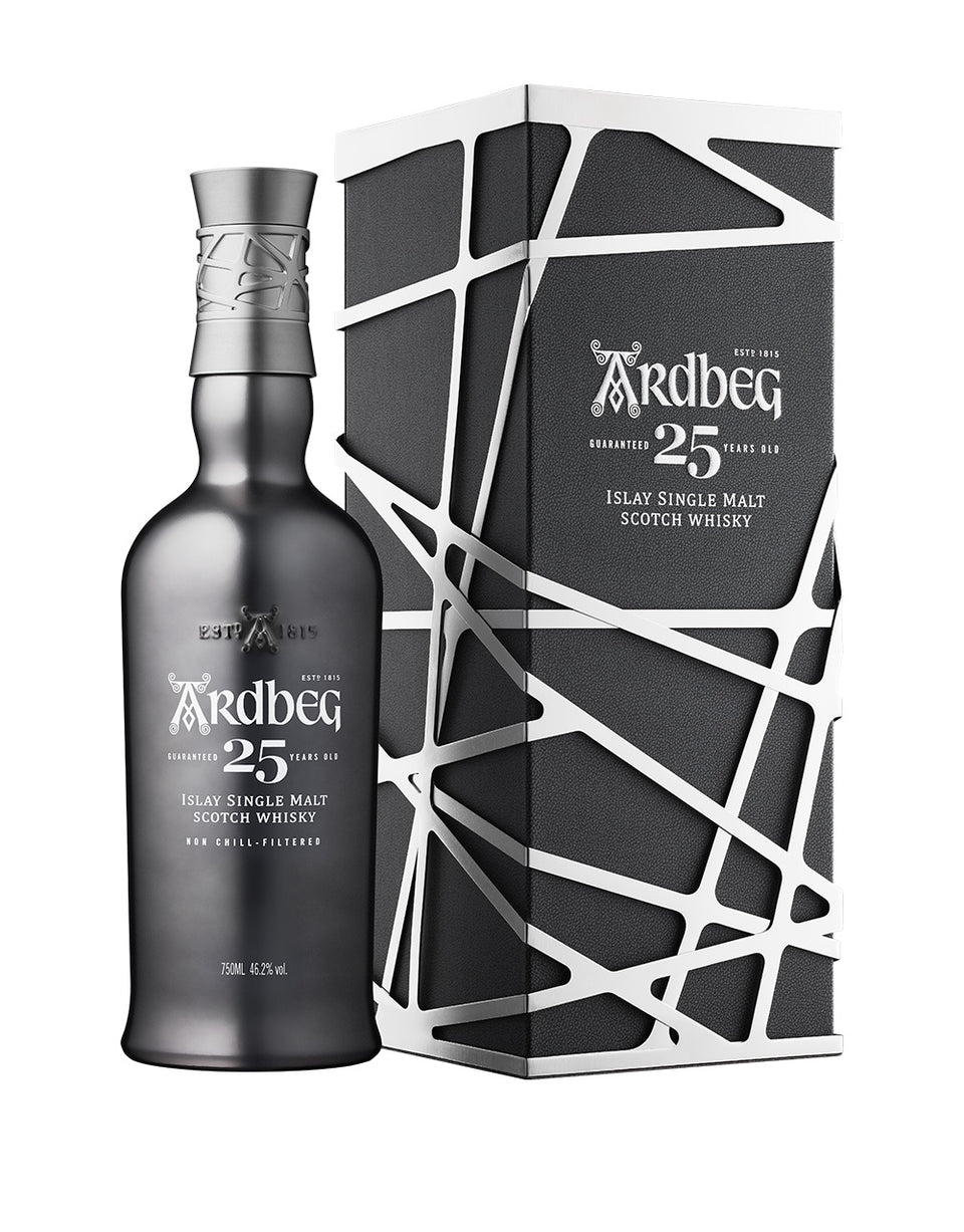 Load image into Gallery viewer, Ardbeg 25-Year-Old Single Malt Scotch Whisky bottle and box