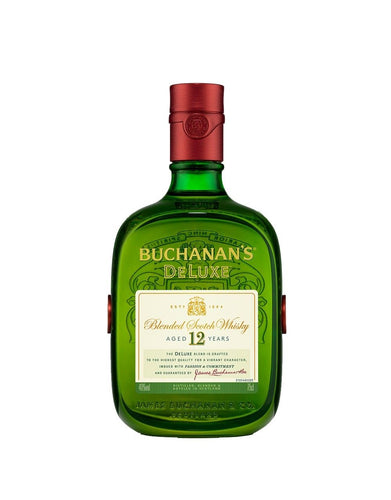 Buchanan's DeLuxe Blended Scotch Whisky bottle