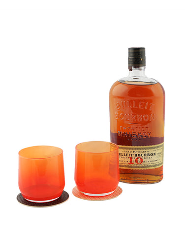 Bulleit 10 Year Old with Mazama Bulleit Bourbon Glasses (Set of 2)