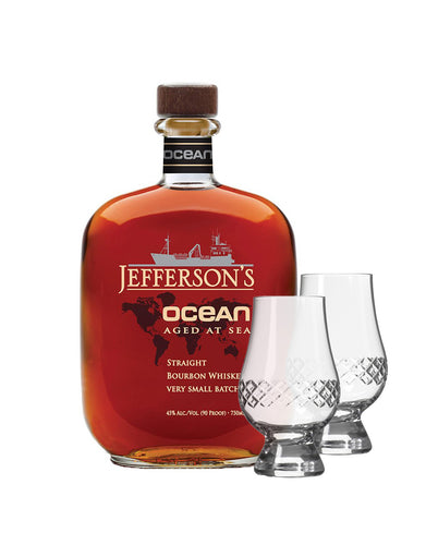 Jefferson's Ocean Voyage: Aged at Sea Bourbon with Rolf Glass Glencairn Set