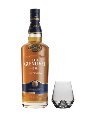 The Glenlivet 18 Year Old with Simon Pearce Bristol Tumbler