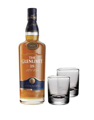 The Glenlivet 18 Year Old with Simon Pearce Ascutney Double Old Fashioned Gift Set
