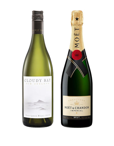 Cloudy Bay Sauvignon Blanc with Moët & Chandon Impérial Brut Gift Set