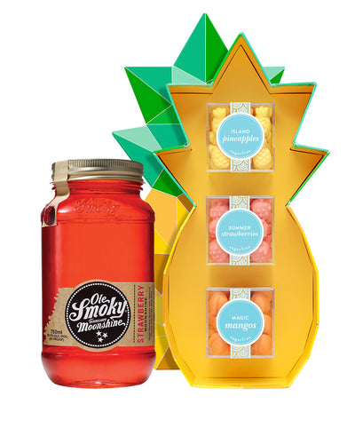 Ole Smoky® Strawberry Moonshine with Sugarfina Tropical Gift Box (3pc)®