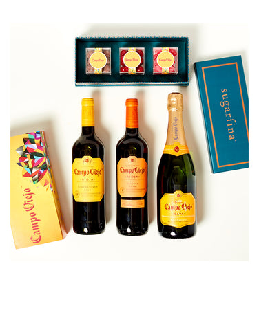 Campo Viejo Wines with 3pc Sugarfina Candy Bento Box Pairing Set