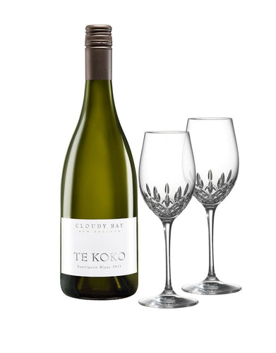 Cloudy Bay Te Koko with Waterford Lismore Essence White Wine Pair
