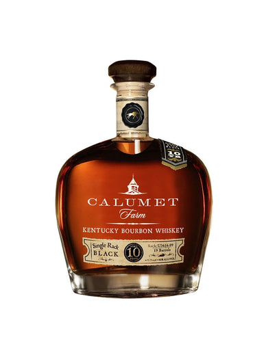 Calumet Farm 10 Year Old Single Rack Black Kentucky Bourbon Whiskey