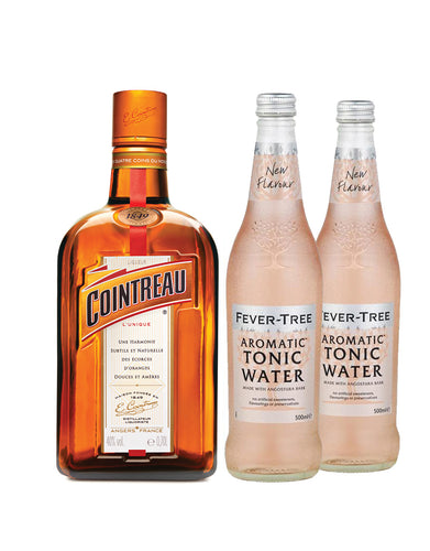 Cointreau with Two Fever-Tree Aromatic Tonic Waters (500Ml)