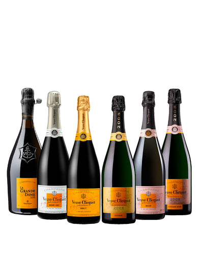 The Veuve Clicquot Champagne collection (six bottles)
