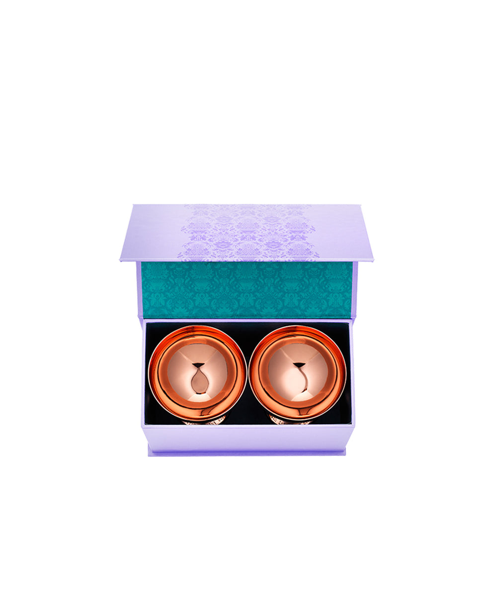 Load image into Gallery viewer, Elyx Copper Cocktail Coupe Gift Set (Set of 2)