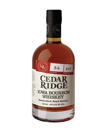 Cedar Ridge Iowa Bourbon Whiskey