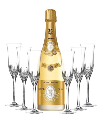 Cristal Vintage with Waterford Lismore Essence Flute Set