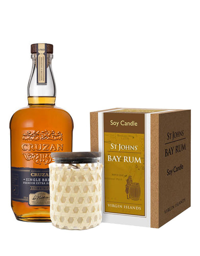 Cruzan Single Barrel Rum with St Johns Bay Rum Soy Candle