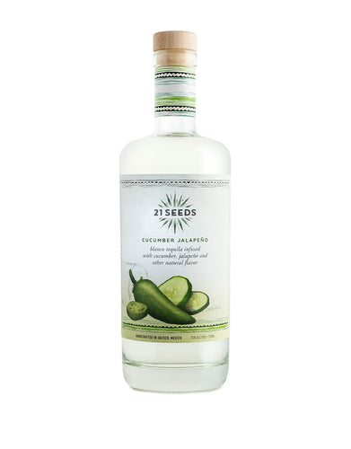 21 Seeds Cucumber Jalapeño Blanco Tequila bottle