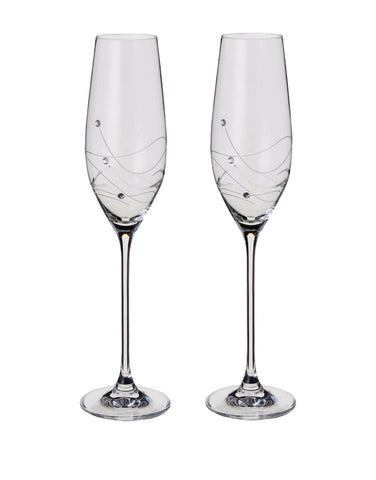 Dartington Glitz Champagne Flute Glasses