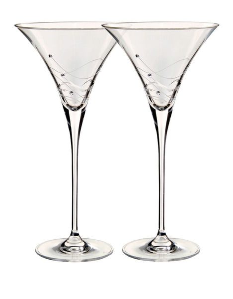 Dartington Glitz Martini Cocktail Glasses