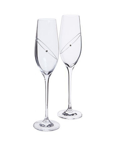 Load image into Gallery viewer, Dartington Glitz Celebration Flutes Clear (set of 2)