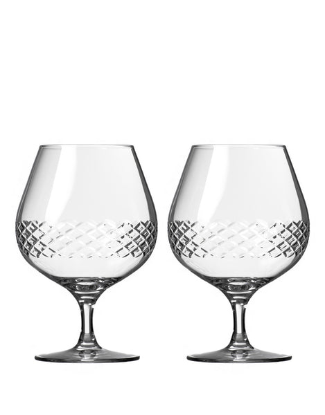 Rolf Glass Diamond Brandy Snifter (Set of 2)