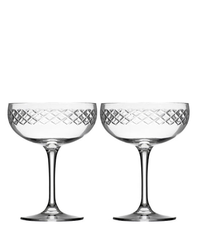 Rolf Glass Diamond Coupe (Set of 2)