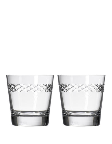 Rolf Glass Diamond Double Old-Fashioned (Set of 2)