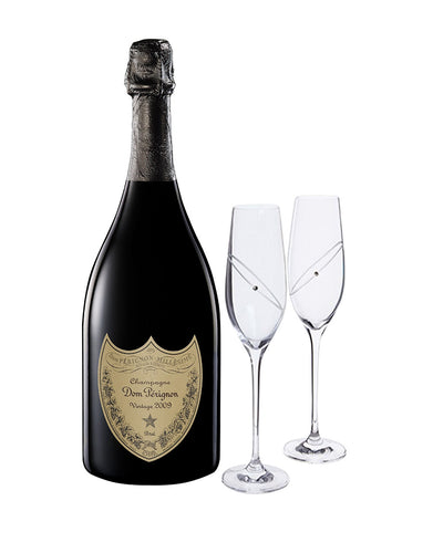 Dom Pérignon Vintage with Dartington Glitz Celebration Flutes
