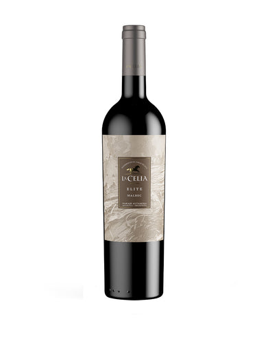 La Celia Elite Malbec Wine bottle