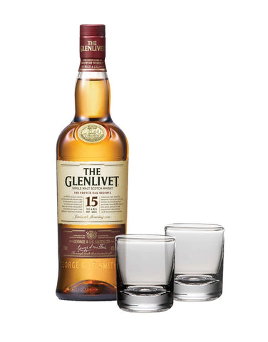 The Glenlivet 15 Year Old with Simon Pearce Ascutney Double Old Fashioned Gift Set